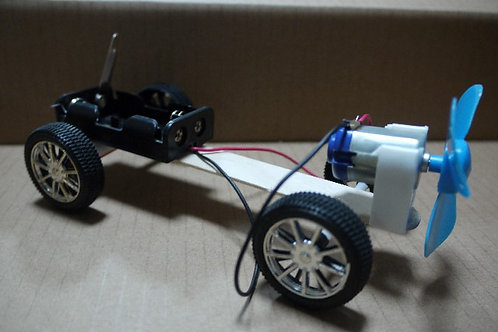 DIY TOY CAR KIT : PROPELLER CAR WITH ON/OFF SWITCH