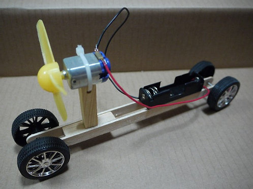 DIY MOTORISED TOY CAR KIT : LONG PROPELLER CAR