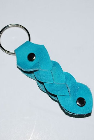 Braided Leather Keyring