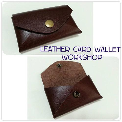 LEATHER CARD WALLET WORKSHOP
