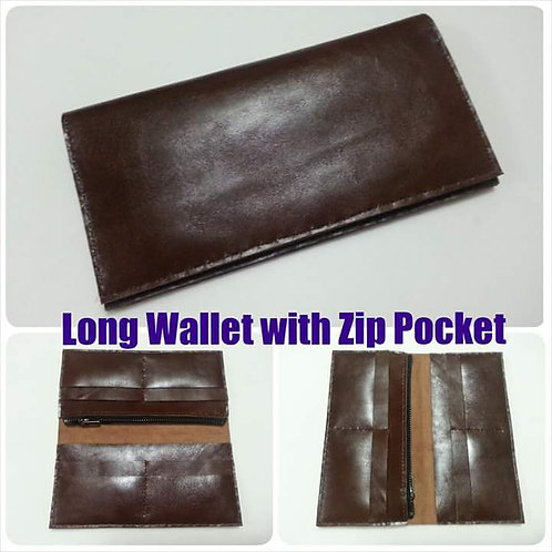Long Wallet with Zip Pocket Workshop