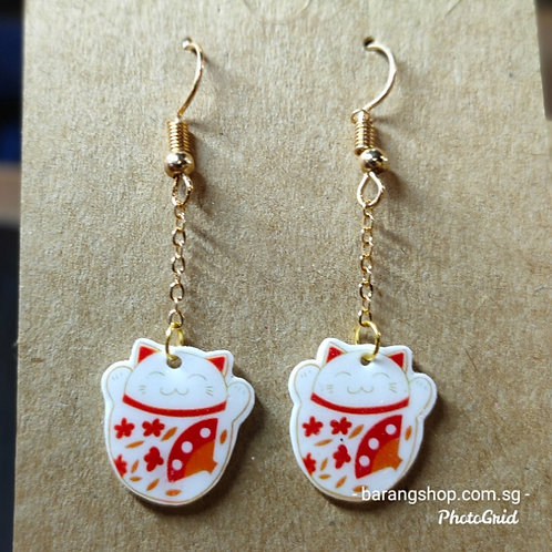Maneko Lucky Cat Earrings