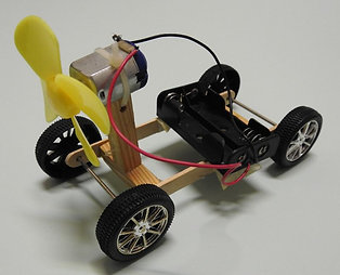 DIY MOTORISED TOY CAR KIT : PROPELLER CAR 04