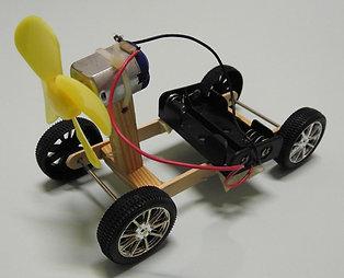 DIY MOTORISED TOY CAR KIT : PROPELLER CAR 04