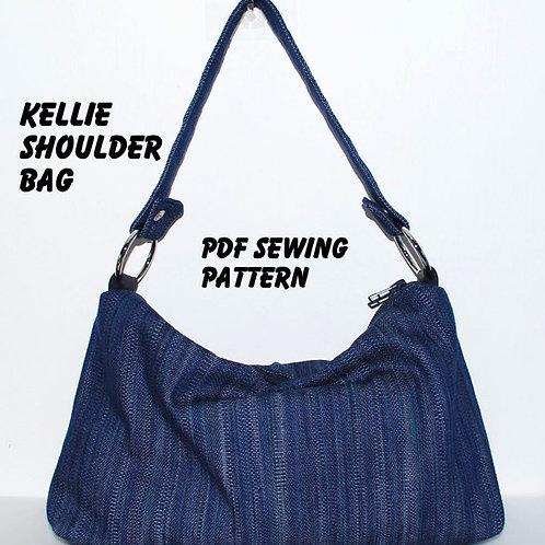 Instant Download PDF Pattern - KELLIE Shoulder Bag PDF Sewing Pattern