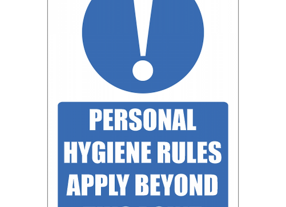 SSE048 - Personal Hygiene Rules Sign