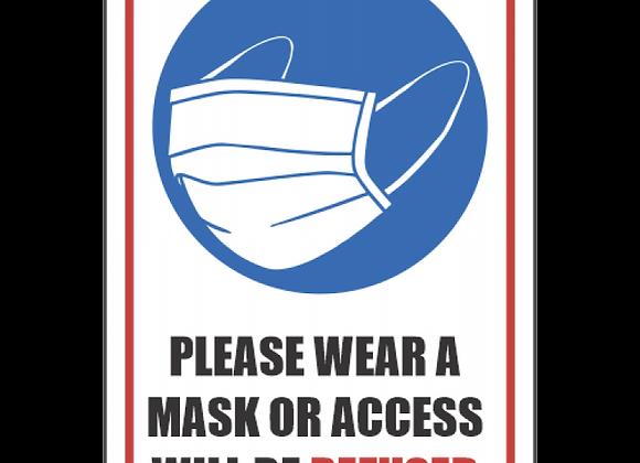 SSE051 - Please Wear A Mask Sign
