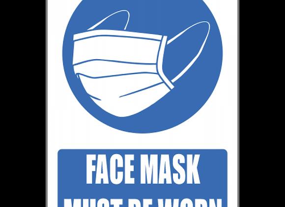 SSE027 - Face Mask Should Be Worn Explanatory Sign