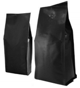 Matt Black Coffee Pouch - 250g with Valve