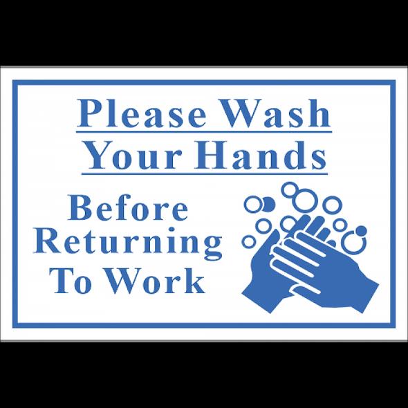 SSE073 - Wash Hands Sign