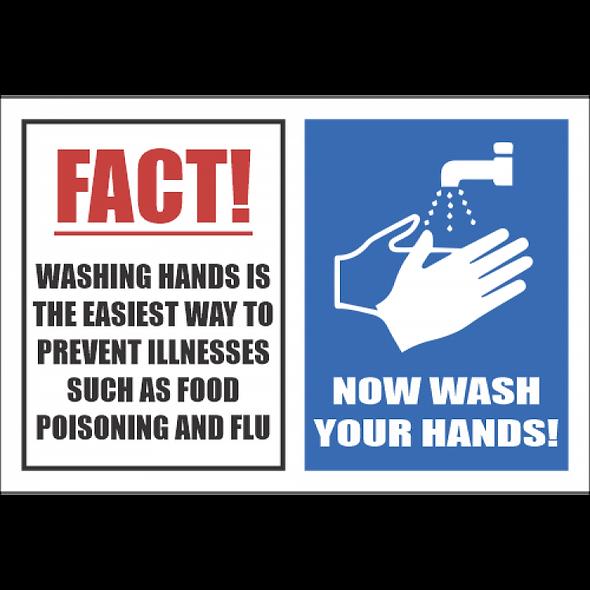 SSE030 - Fact Wash Hands Sign