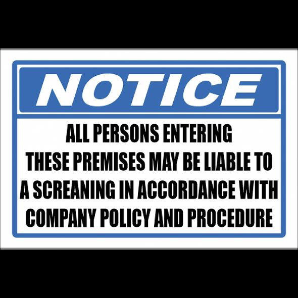 Notice - Screening Sign