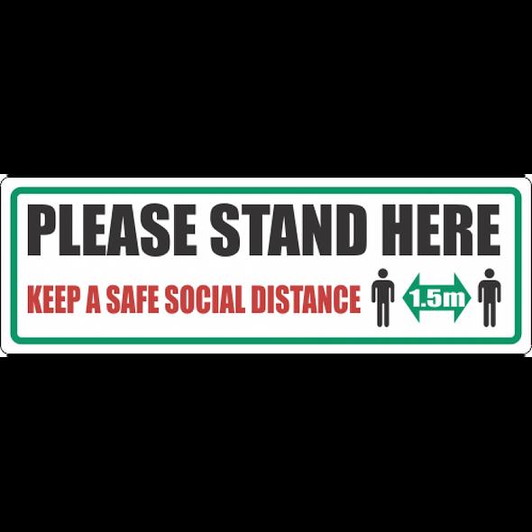 SSE020 - Please Stand Here Floor Sticker