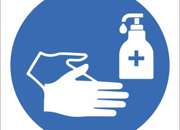 SSE058 - Sanitise Hands Sign