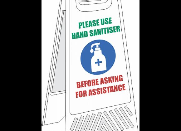 SSE070 - Use Hand Sanitiser Floor Stand