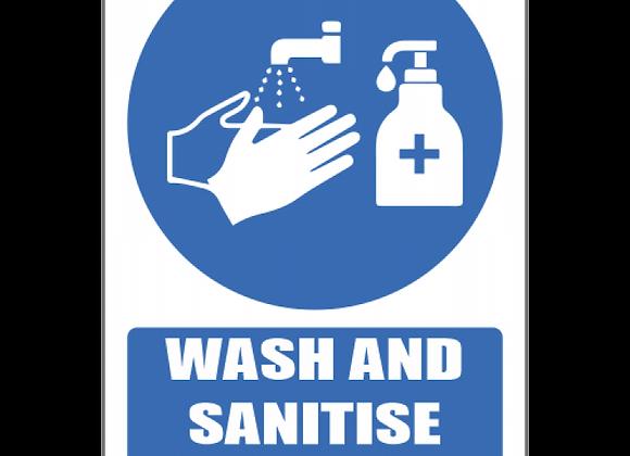 SSE072 - Wash & Sanitise Hands Explanatory Sign