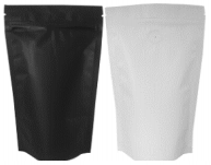 White Coffee Pouch - 250g with Valve