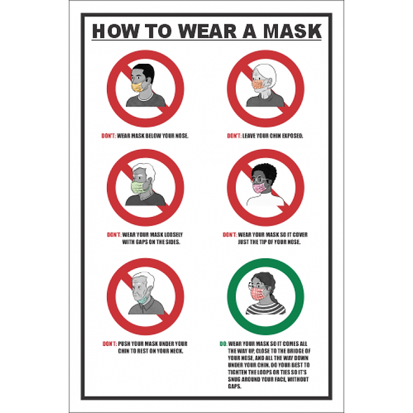SSE035 - How To Wear A Mask Sign