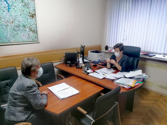 Рабочая встреча с 1-ым заместителем Главы городского округа Истра Татьяной Ивановной Бикмухаметовой