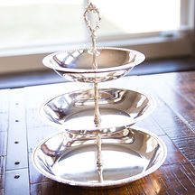 Tiered Silver Serving Tray