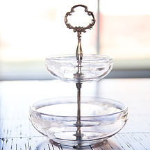 Tiered Glass Serving Bowls