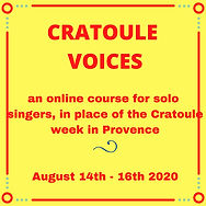 Copy of CRATOULE VOICES an online course