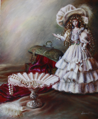 Doll with vase