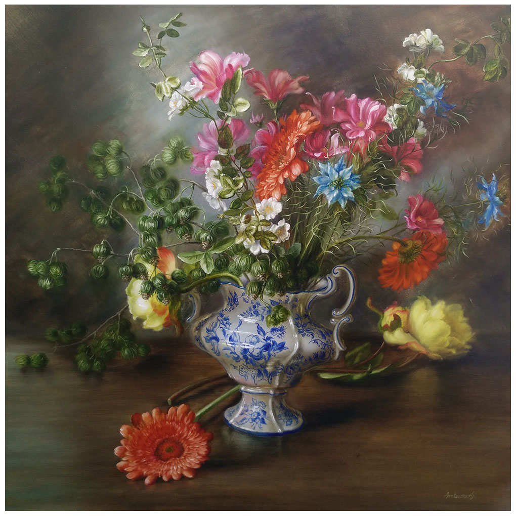 Vase with forest flowers