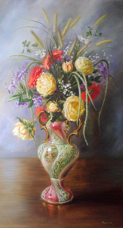 Vase with flovers