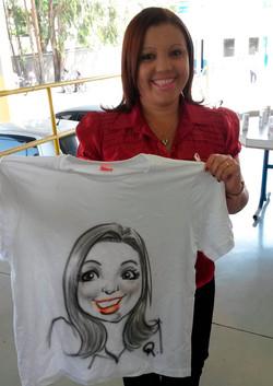 Caricatura ao vivo em Camiseta