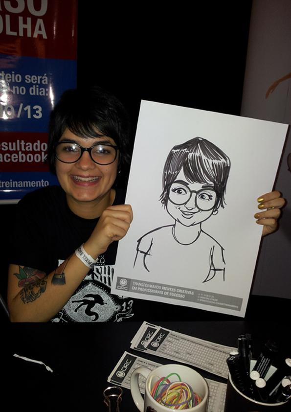 Caricatura ao vivo em papel