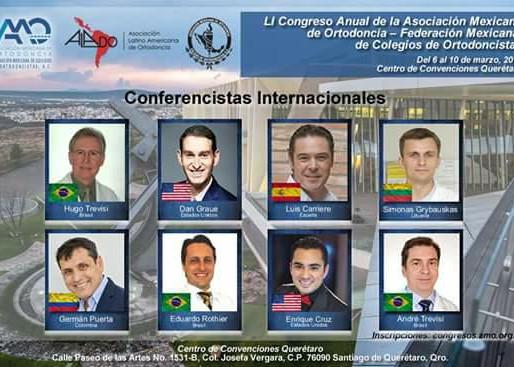 Dr. Eduardo Rothier - palestrante no Congresso Internacional de Ortodontia no México em Março de 201