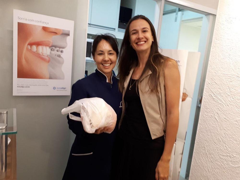 Juliana Galvão também participou do Natal solidário da Clinica Rothier em Pendotiba, Niterói.