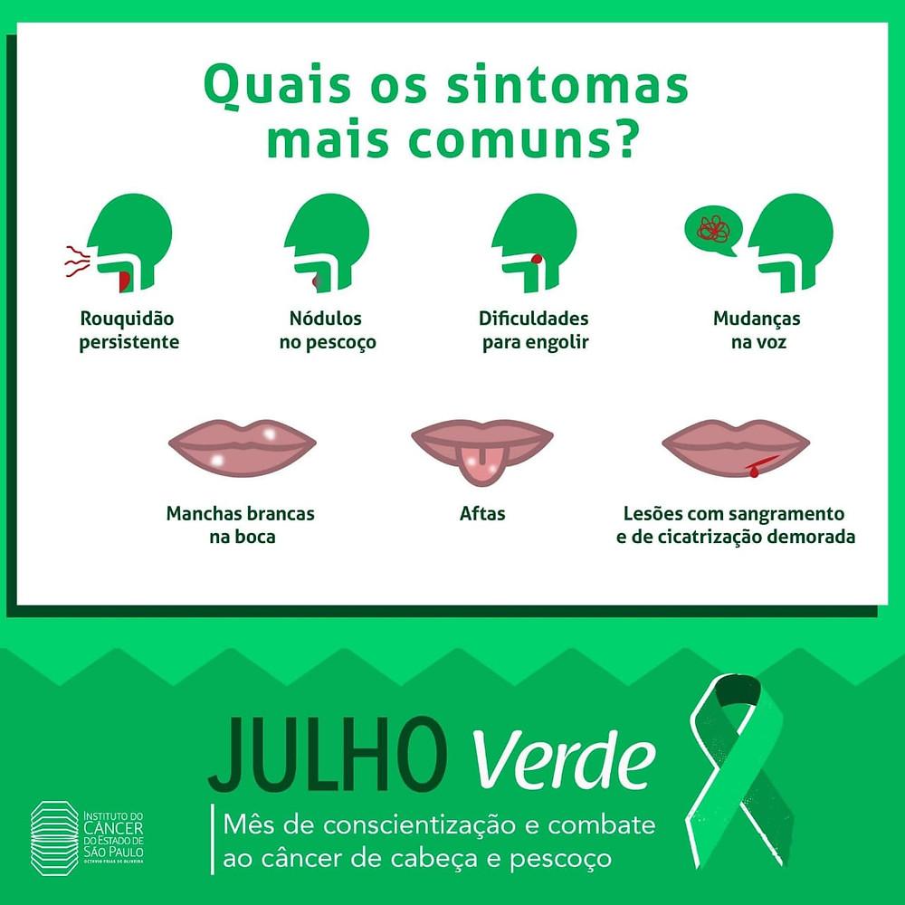 Julho É VERDE!  É mês de prevenção de câncer de cabeça e pescoço. Estomatologista Dr Cesar Noce atende na Barra da Tijuca Rio