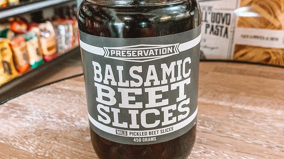 Balsamic beet slices