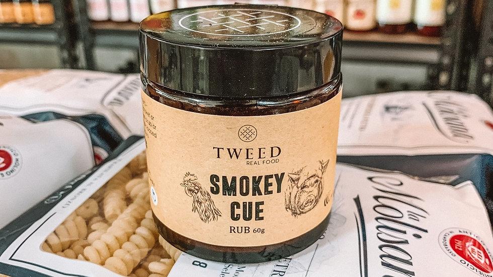 Tweed smokey cue rub