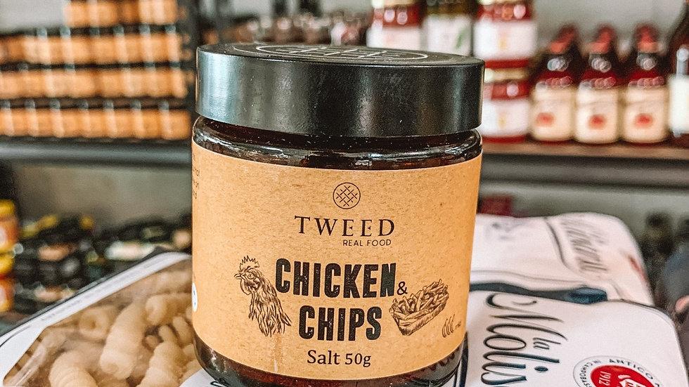 Tweed chicken chip salt