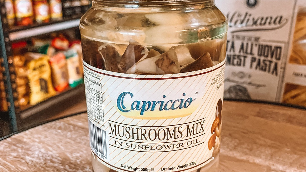 Mushrooms mix in sunflower oil