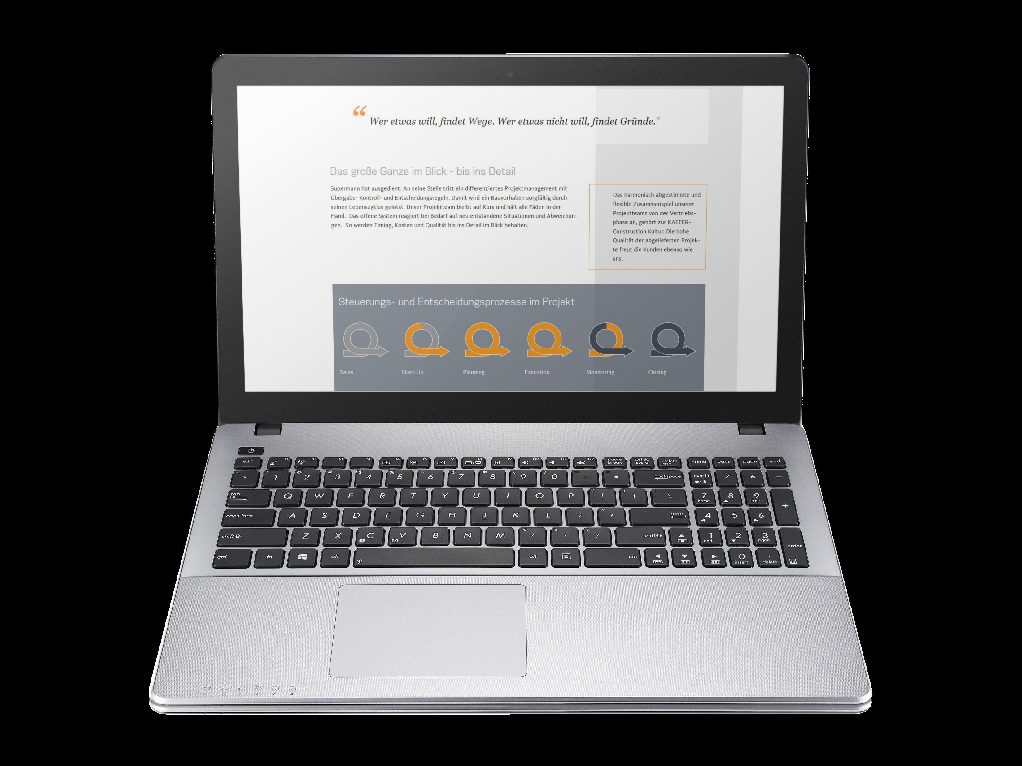 Mockup Cocon Website projektvorgehen