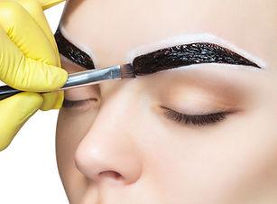 Henna brow + epileren met draad bijwerke