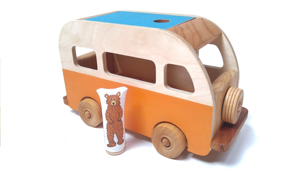Vintage Bus  for LARGE Pegs