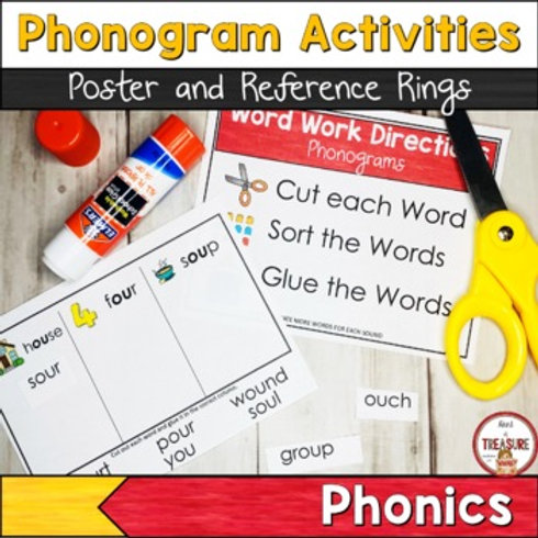 Phonics Practice with Common Phonograms for Emergent Readers and Struggling Readers