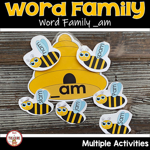 Word Family and Rhyming Words for Kindergarten and Toddlers