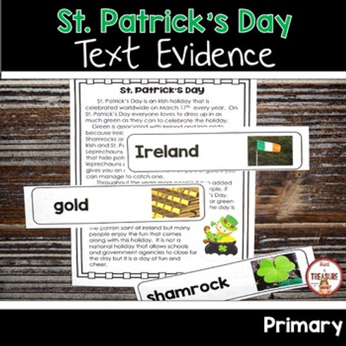 ST. Patrick's Day Reading Passage for 1st and 2nd Grade