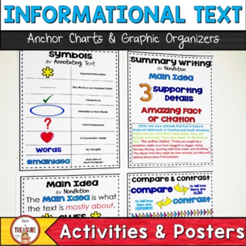 Informational Text Anchor Charts and Graphic Organizers