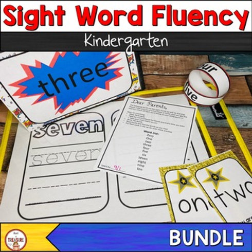Sight Word Fluency Lists and Activities for Kindergarteners