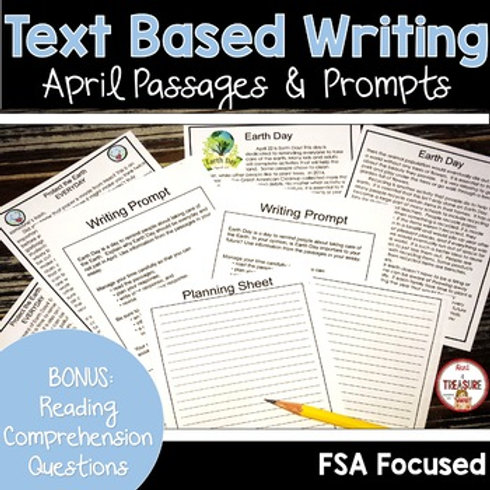 Earth Day Reading and Writing Passages and Prompts | FSA Writing