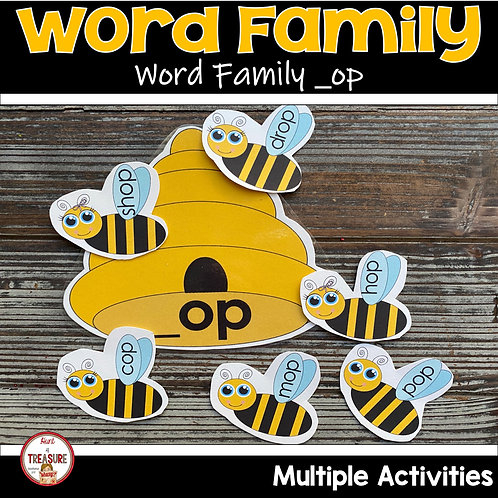 Word Family Activities for Toddlers and Kindergarten