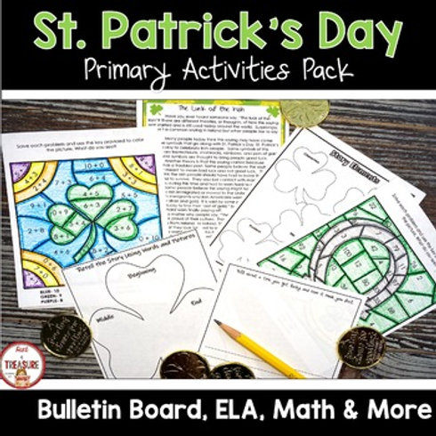 St. Patrick's Day Activities for Kindergarten, 1st Grade, and 2nd Grade