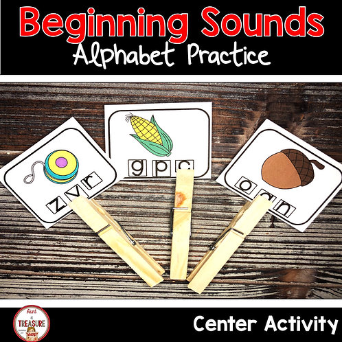 Use these cards to let students say words and identify the beginning sound as a word work literacy activity.